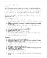 sample construction project manager job description 8 examples copywriter job description