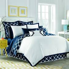 navy and white comforter sets queen jill rosenwald hampton links bed linens the yellow 16