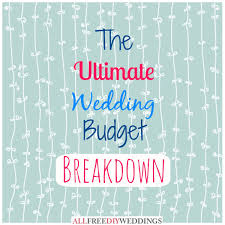 wedding planning on a budget wedding planning wedding budget breakdown allfreediyweddings com