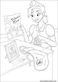 Tekeningen Te Schilderen Kleur Prinses Kikker Print Design 022