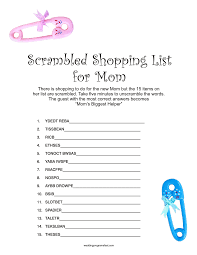 Free Printable Baby Shower Games For Girls  BarberryfieldcomShower Games For Baby