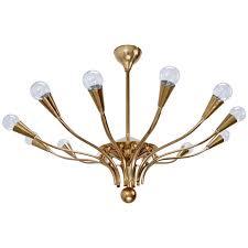 late 1940s italian brass chandelier for
