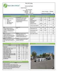 Daily Solar Construction Reports Blue Oak Energy