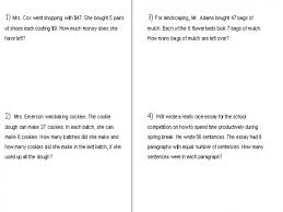 2nd grade math word problems problem worksheets multiplication and ...
