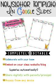 Teachers Newsletter Templates Digital Newsletter Template In Google Slides Classroom