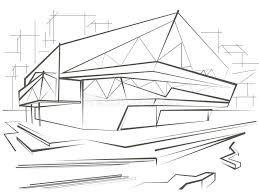 modern architecture sketch. Interesting Sketch Download Architectural Sketch Modern Building On City Background Stock  Vector  Illustration Of Vector Project In Architecture O