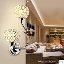 lighting sconces for living room. 2018 K9 Crystal Wall Light Sconces Modern Luxury Beautiful Bedroom Living Room Ac 90 260v From Led_home_lighting, $98.5 | Dhgate.Com Lighting For