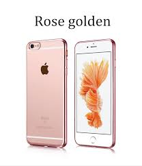 iphone 6 colors rose gold. transparent soft rubber cover with rose gold bumper for iphone 6+ plus iphone 6 colors