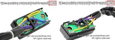 px horn vespa org uk and as far as i can make out that 23354800 switch should be on a battery model and that yellow is dc you haven t got a battery scoot no battery