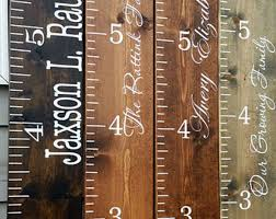 Personalized Growth Chart Wooden Growth Chart Height Chart