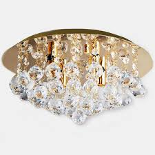 2 of 7 modern round crystal droplets gold ceiling chandelier light