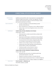 Placement Officer Resume Sample Inspirational Correctional Officer Resume  Samples and Tips