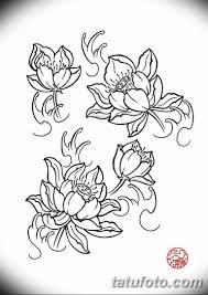 черно белый эскиз тату рисункок пионы 11032019 066 Tattoo
