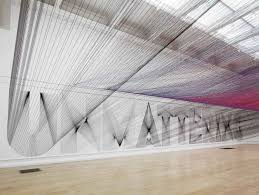 Large Scale Art So Hot Right Now String Thread Installations