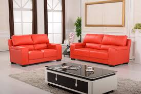 Living Room Furniture Leather And Upholstery Nice Quality Red Upholstery Genuine Leather Loveseat Sofa Design