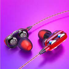 Dört çekirdekli çift hoparlör kablolu kulaklık kulak kulaklık için samsung  xiaomi huawei çift sürücü stereo spor oyun mikrofonlu kulaklık satın al ~  Kulaklık Ve Kulaklık \ SatisBolum.news