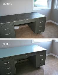 office metal desk. diy tanker desk refinished top this was so disgusting the rubber office metal