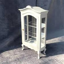 miniature dollhouse furniture white round top collection cabinet wooden toy house doll display cabinets in houses