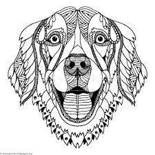Dog Coloring Pages Zentangle Getcoloringpages Org