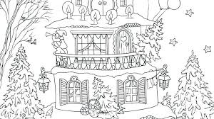 Snow Man And Gingerbread House Coloring Page Pages Online Disney