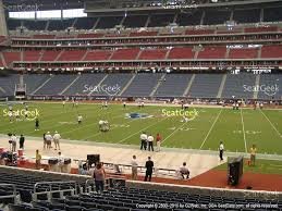 view seating charts houston texans at nrg stadium section 105 view