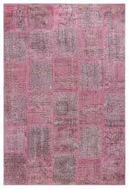 vintage patchwork overdyed pink wool rug 19054 6 8x10 contemporary area rugs by rugsville