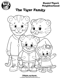 Small Picture Coloring Daniel Tigers Neighborhood PBS KIDS busy book