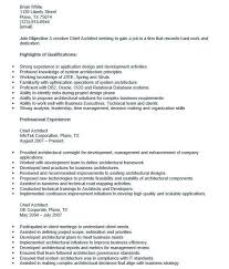 Chief Architect Resume Sample Do 5 Things