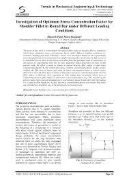 Pdf Investigation Of Optimum Stress Concentration Factor