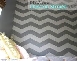 diy paint a chevron striped wall