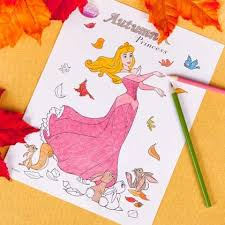 Small Picture Princess Auroras Autumn Coloring Page Disney Family