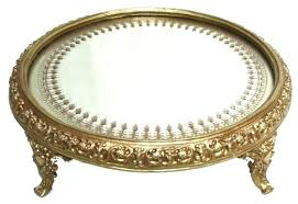 round gold tray scroll footed mirror mirrored silver with kmart home decor table