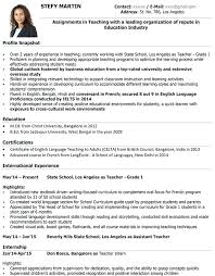 Example Of A Teachers Resume Modern Design Resume Format For ...