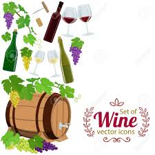 Wine Border Template Side Vertical Border With Wine Icons Template For Packaging