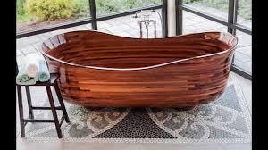 Wooden Bathtub Custom Wood Bathtub Youtube