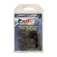 Afw Leader Sleeves Size Chart American Fishing Wire J10f8b B 10f8 Double Barrel Sleeves Black 50pc