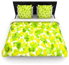 ebi emporium giraffe spots lemon lime duvet cover queen 88
