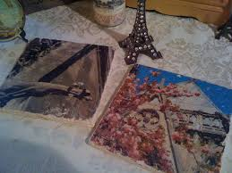 diy image transfers on marble tile canvas