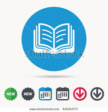 book icon study literature sign education stock vector  study literature sign education textbook symbol calendar arrow and