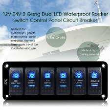 Why Do Led Lights Trip Breaker Details About 6 Gang Rocker Switch Panel Circuit Breaker Blue 2 Led Waterproof Car Marine Boat