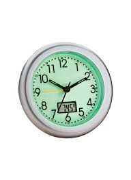 glow in the dark alarm clock with thermometer loading zoom