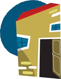 Open front door illustration Endearing House With Its Front Door Left Open Illustration Source Stock Illustration House With Its Front Door Left Open