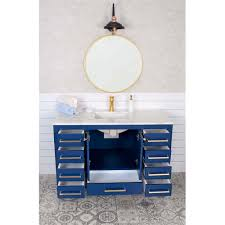 If you have a goal to bathroom vanities with makeup area this selections may help you. Grove 48 Inch Navy Blue Bathroom Vanity