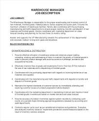 Manufacturing Manager Job Description Sample – Mollysherman