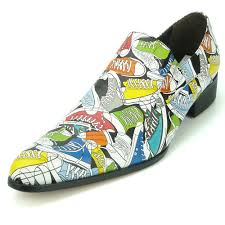 Aurelio Garcia Designer Shoes Fi7276 Multi Color Leather Pointed Toe Slip On Loafer Fiesso By Aurelio Garcia