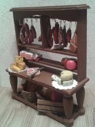 Image Wooden Showcase For Dollhouse Miniature Food For Dolls Doll House House Miniature Cooking Handmade Furniture Doll Collectible Banggood Meat Counter For Dollhouse Miniatures Furniture For Dolls Shop