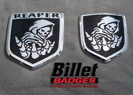 Grim Reaper 09up Dodge Tailgate And 09 12 Dodge Grille Shields Polished With Gloss Black Paint Fill Ram Trucks Accessories Dodge Ram Accessories Ram Trucks