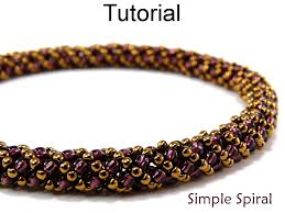 Seed Bead Patterns Simple Beading Tutorial Pattern Bracelet Necklace Russian Spiral Stitch