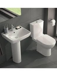 twyford e100 square premium toilet and wash basin set