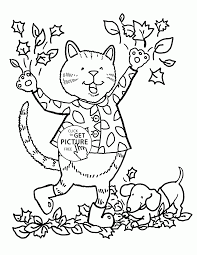 Funny Fall Day Coloring Pages For